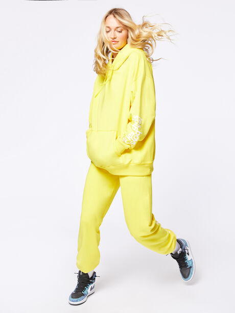 Exclusive Oversized Hoodie Yellow, Yellow, large image number 1