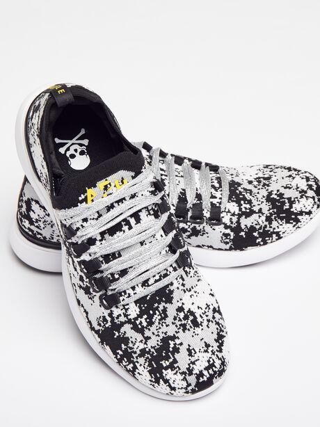 Women's Camo Breeze Sneaker, Black/Metallic Silver, large image number 0