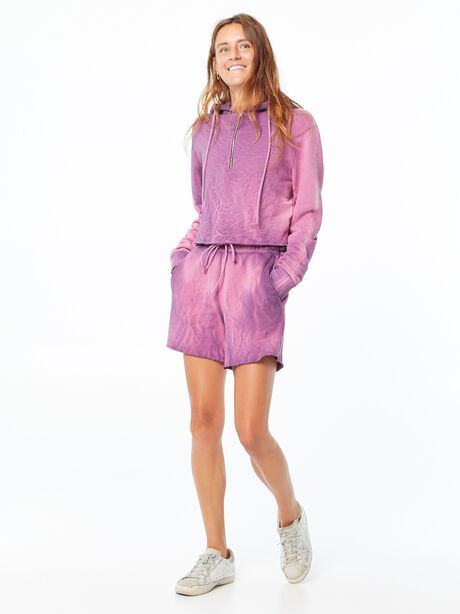 Oversized Brooklyn Sweatshort Lavender Mix, Purple, large image number 0