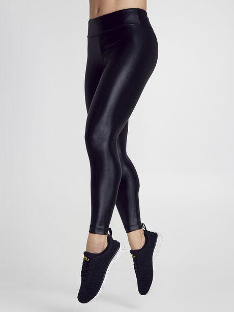 Lustrous High Rise Legging, Black, large image number 0