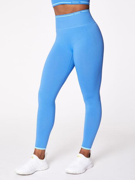 Ribbed Seamless Bra and Legging Kit Nebulous Blue, Blue Multi, large image number 5