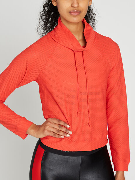 Pump Netz Pullover, Red, large image number 2