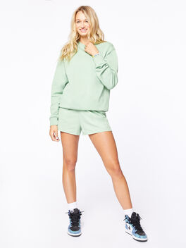 Crew Neck Sweatshirt Mistletoe, Green, large