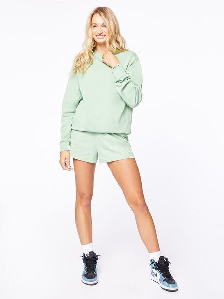 Crew Neck Sweatshirt Mistletoe, Green, large image number 0