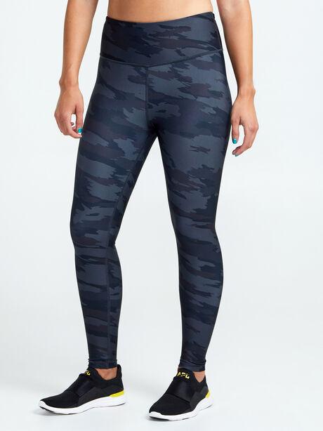 Double Knit Grey Camo Leggings, Light Grey Camo, large image number 0