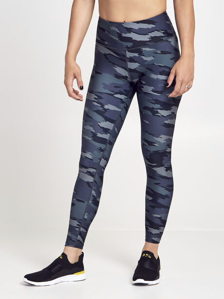 Green Camo Double Knit Legging, Green/Camo, large image number 0