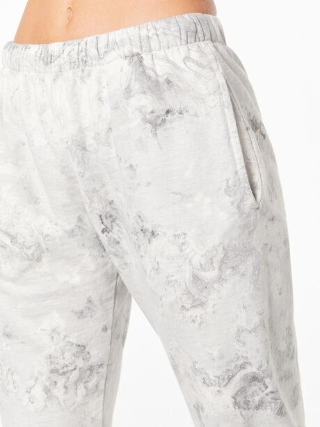 Tie-Dye Billie Sweatpant Black/White, Black/White, large image number 2