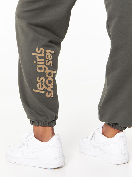 Loose Fit Track Pants Peat, Dark Olive, large image number 3