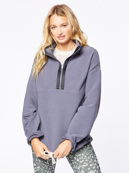 Harding Half-Zip Pullover Deepest Slate, Dark Slate, large