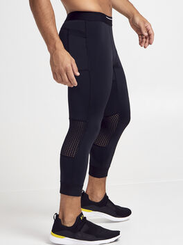 3/4 Compression Pant, Black, large