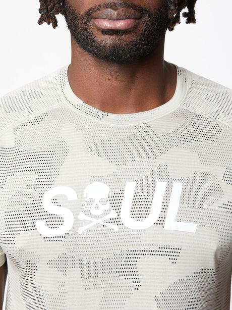 Metal Vent Tech Shirt Geo Camo, Carbon Dust/Muslin/Black, large image number 1