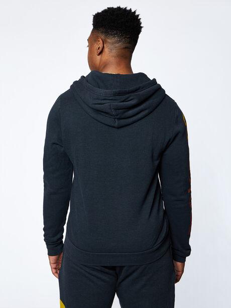 Exclusive Zip-Up Hoodie, Black Slub, large image number 4