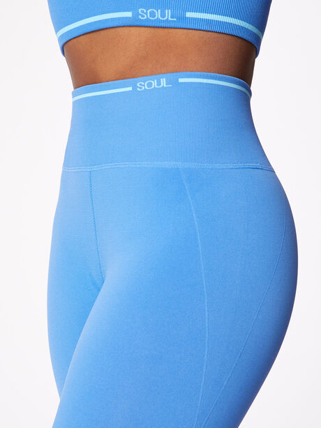 Ribbed Seamless Bra and Legging Kit Nebulous Blue, Blue Multi, large image number 7