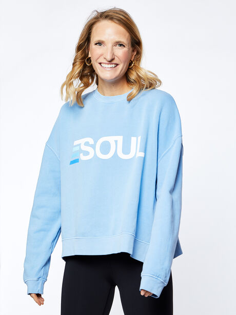 Lounge Sweatshirt, Blue Mineral Wash, large image number 0