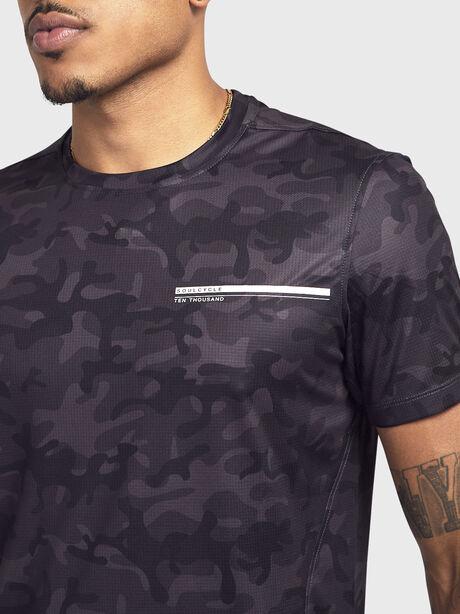 Camo Short-Sleeve Shirt, Black Camo, large image number 1