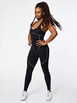 Contour Jumpsuit Black, Black, large