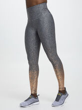 Alloy Ombre High Waisted Legging, Black/Gold, large