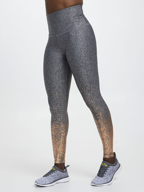 Alloy Ombre High Waisted Legging, Black/Gold, large image number 0