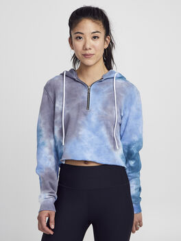 Tie Dye Brooklyn Sweatshirt, Blue Tied, large