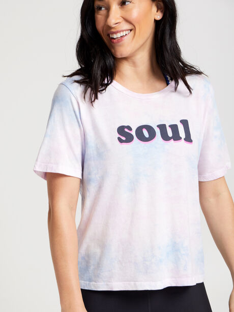 Crop Short-Sleeve T-shirt, Tie Dye, large image number 0