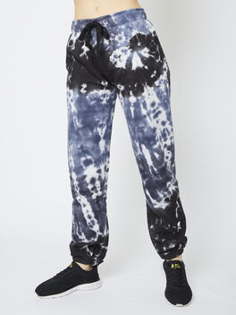 Tie-Dye Super Slouch Sweatpant, Blue Tied, large