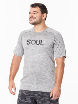 Metal Vent Tech Shirt Slate/White, Slate/White, large