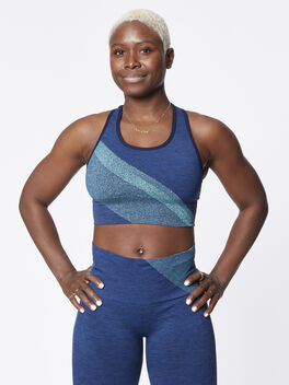 Comet Sports Bra, Blue, large