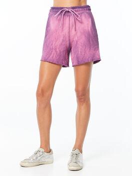 Oversized Brooklyn Sweatshort Lavender Mix, Purple, large