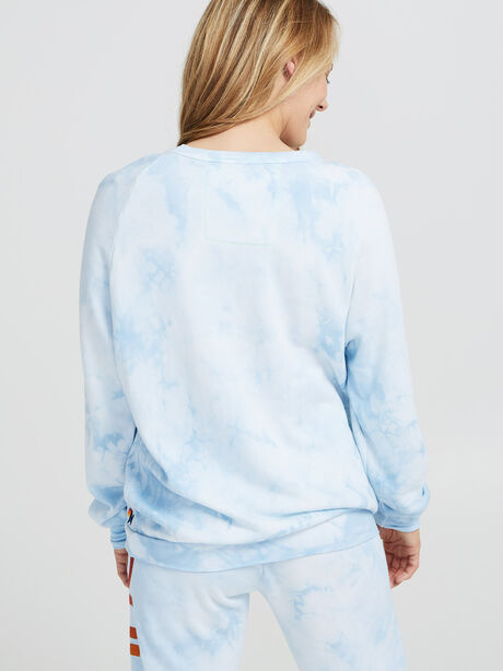 Tie-Dye Crewneck Sweatshirt, Blue, large image number 3