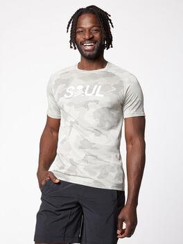Metal Vent Tech Shirt Geo Camo, Carbon Dust/Muslin/Black, large