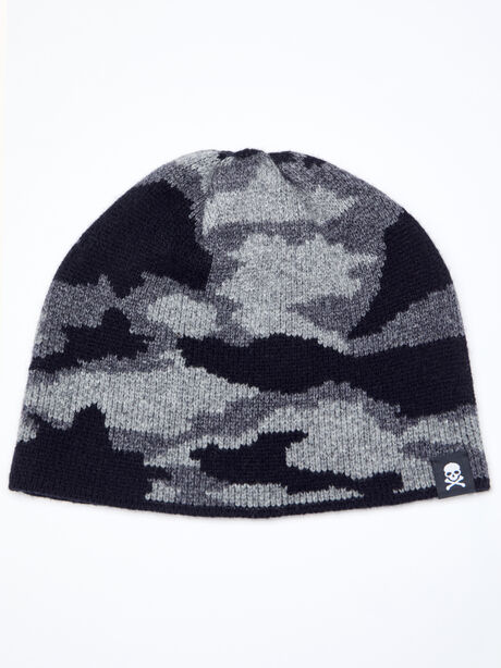 CAMO BEANIE- CASHMERE BLEND, Camo, large image number 0