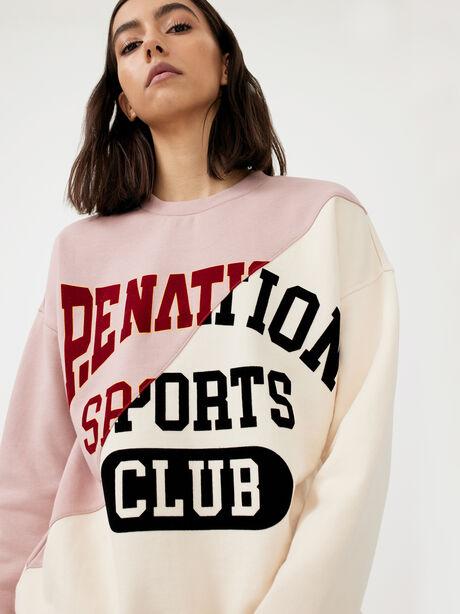 Inning Sweatshirt Misty Rose, White/Pink, large image number 1
