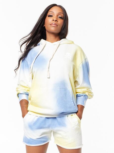 Kingsley Hoodie Airbrush, Blue Tied, large image number 1