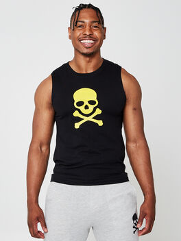 All Studio Muscle Tank Top, Black, large