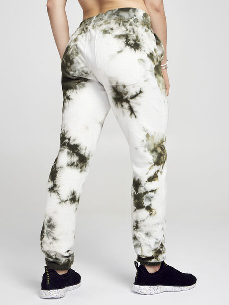 Army/White Sayde Sweatpant, Green Ombre, large image number 2
