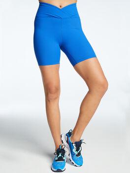 Ribbed Biker Short Blue, Blue, large