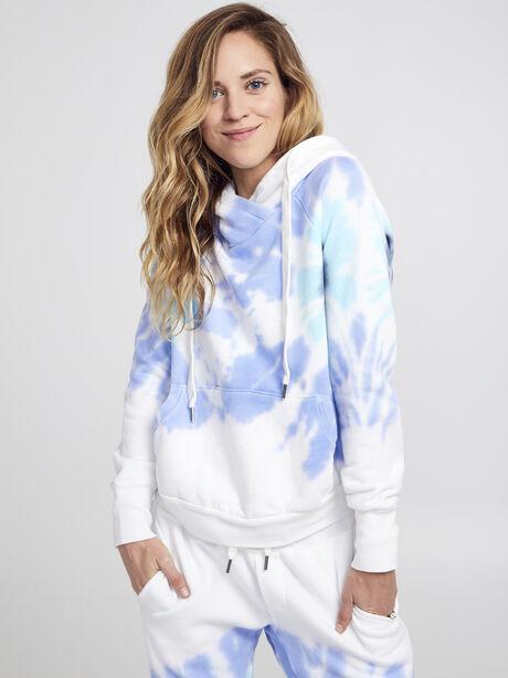 Exclusive Lissie Pullover Hoodie Sweatshirt, Blue Tied, large image number 0