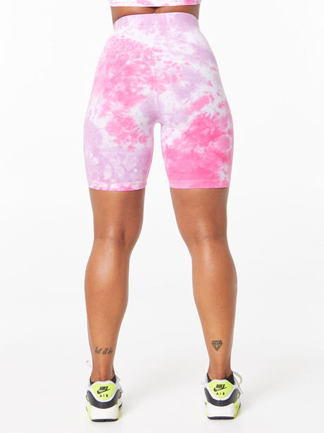 Tie-Dye Lo Cotton Bike Short Pink/Purple, Purple, large image number 3