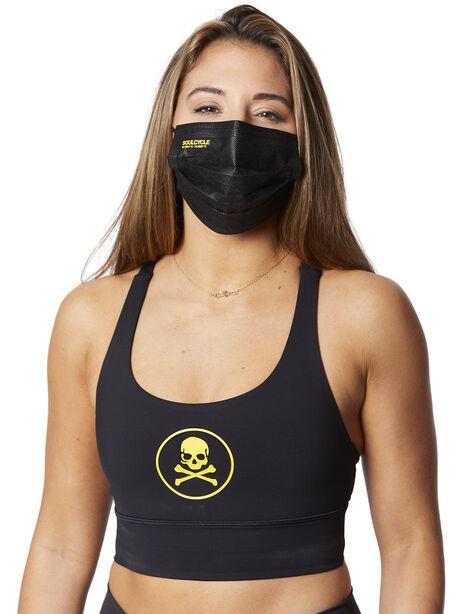 evolvetogether™  7- pack disposable black mask, Black, large image number 1