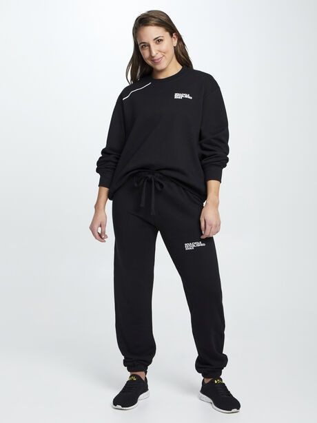 Mantra Super Slouch Sweatpants, Black, large image number 4