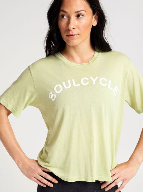 Lime Boxy Sunny Tee, Green, large image number 1