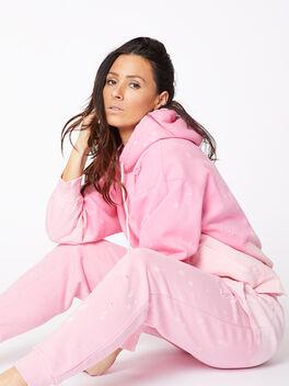 Acid Wash BHH Hoodie Pink, Pink, large