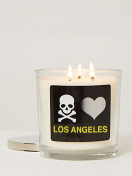 LA 3 Wick Candle, Clear, large