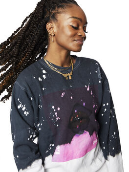 Acid Wash Breakthrough Pullover Charcoal, Charcoal, large