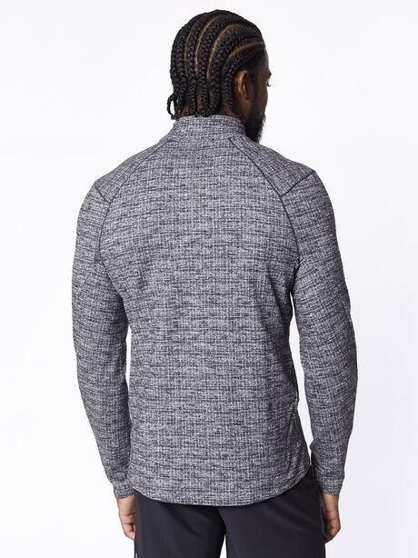 Surge 1/2 Zip, Black/White, large image number 2