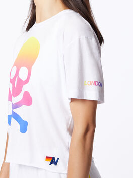 Exclusive Boyfriend Tee White/Rainbow London, White, large