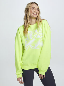 Neon Yellow Soul Crewneck Sweatshirt, Yellow, large