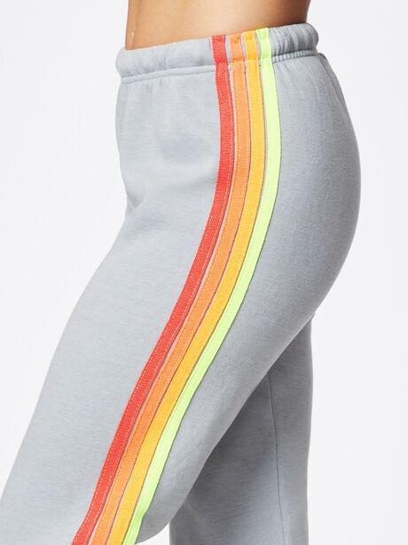 4 Stripe Sweatpant Light Grey, Light Grey, large image number 1