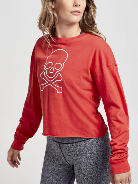 Long Sleeve Red Shirt, Red, large image number 0