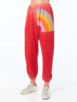 Super Rainbow Letsgo Supervintage OG Sweatpant Art Yard Red, Red, large